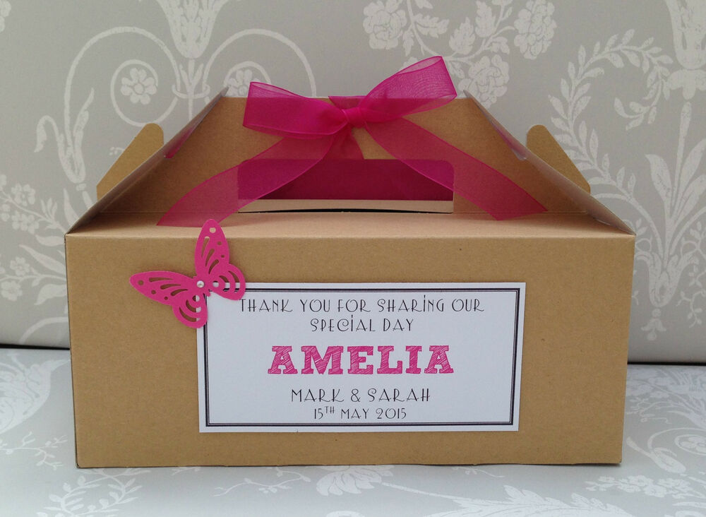 Childrens Wedding Gifts: Personalised Childrens Wedding Favour Activity Box BROWN