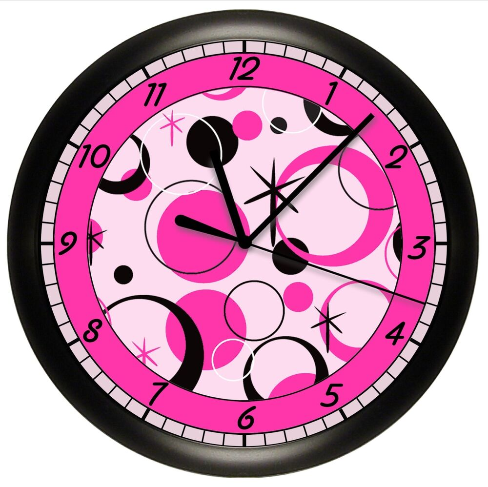 Circles wall clock personalized gift decorative girls bedroom ebay