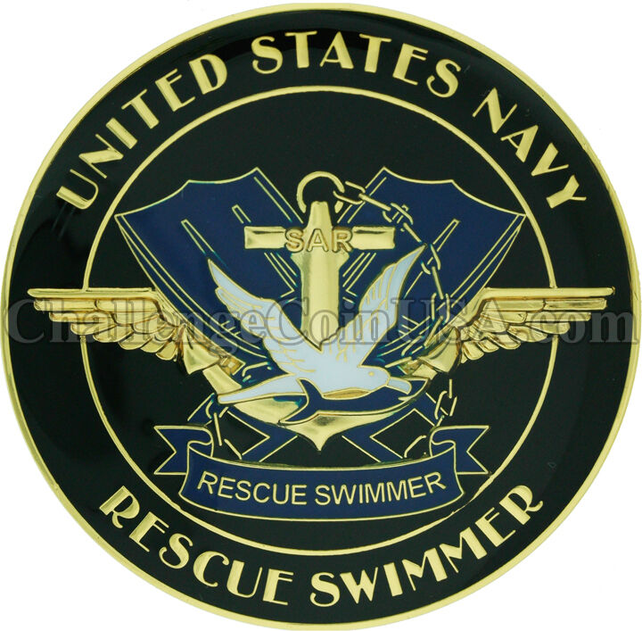 Navy Rescue Swimmer Challenge Coin And 5 Inch Patch Ebay