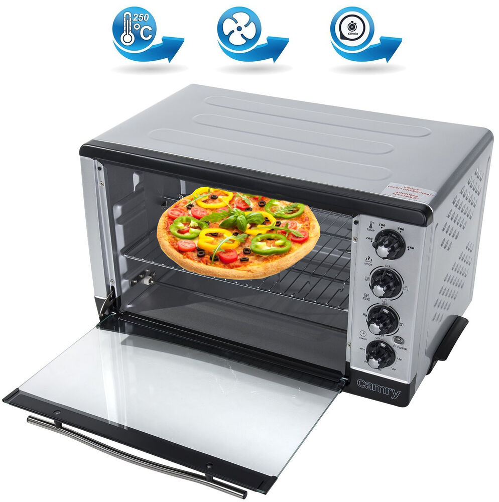 2000 watt mini backofen 43 l ofen drehspie umluft timer miniofen pizzaofen neu ebay. Black Bedroom Furniture Sets. Home Design Ideas
