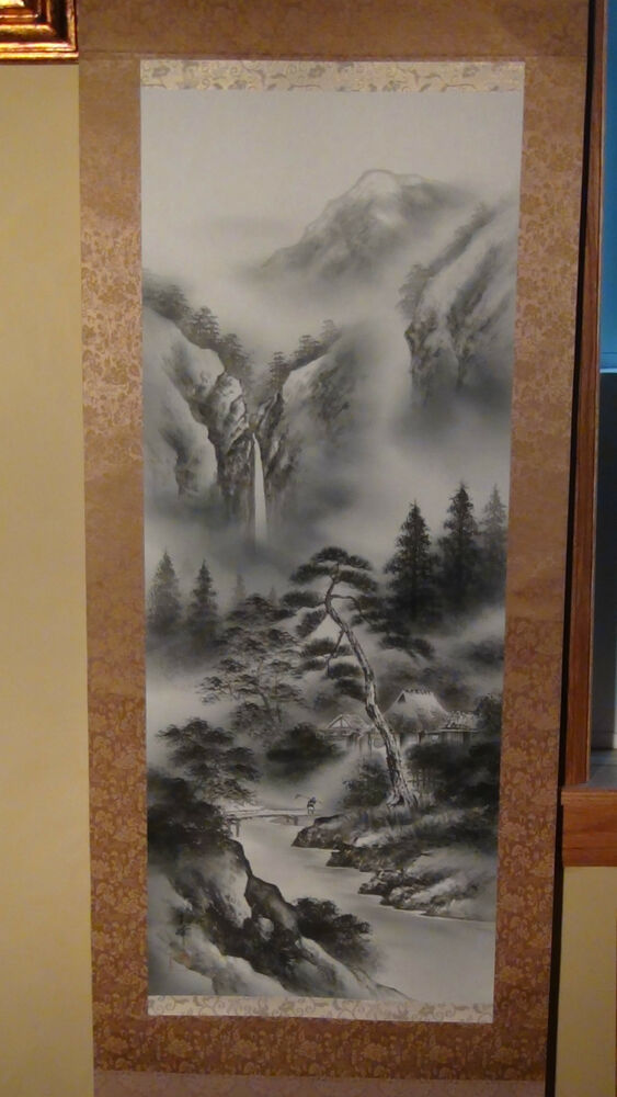 Antique Early 20 Century Chinese Ink Scroll Painting