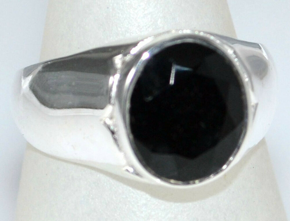 Silver Blue Signet Ring