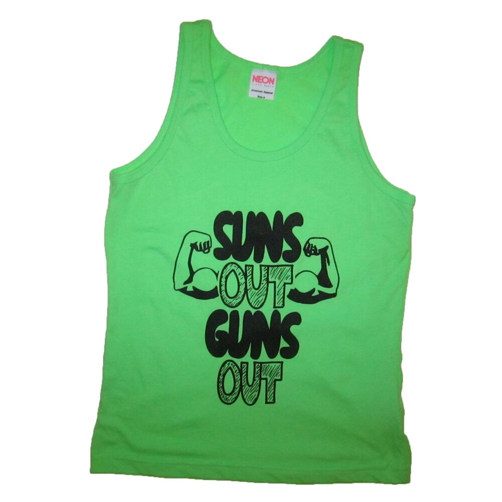 Kids suns out guns out tank top funny summer tee t shirt for Best t shirts for summer