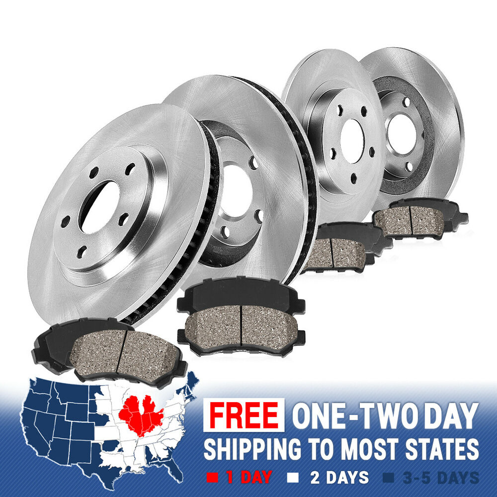 Front+Rear Rotors Ceramic Pads For 2004 2005 2006-2009 2010 TOYOTA SIENNA