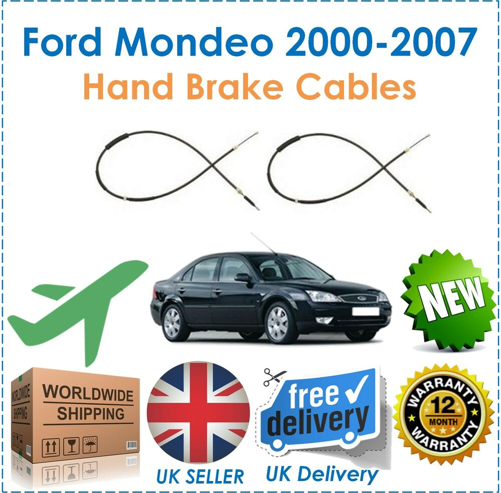 fits ford mondeo mk 3 hatchback saloon 2000 2007 pair 2 rear hand brake cables ebay. Black Bedroom Furniture Sets. Home Design Ideas