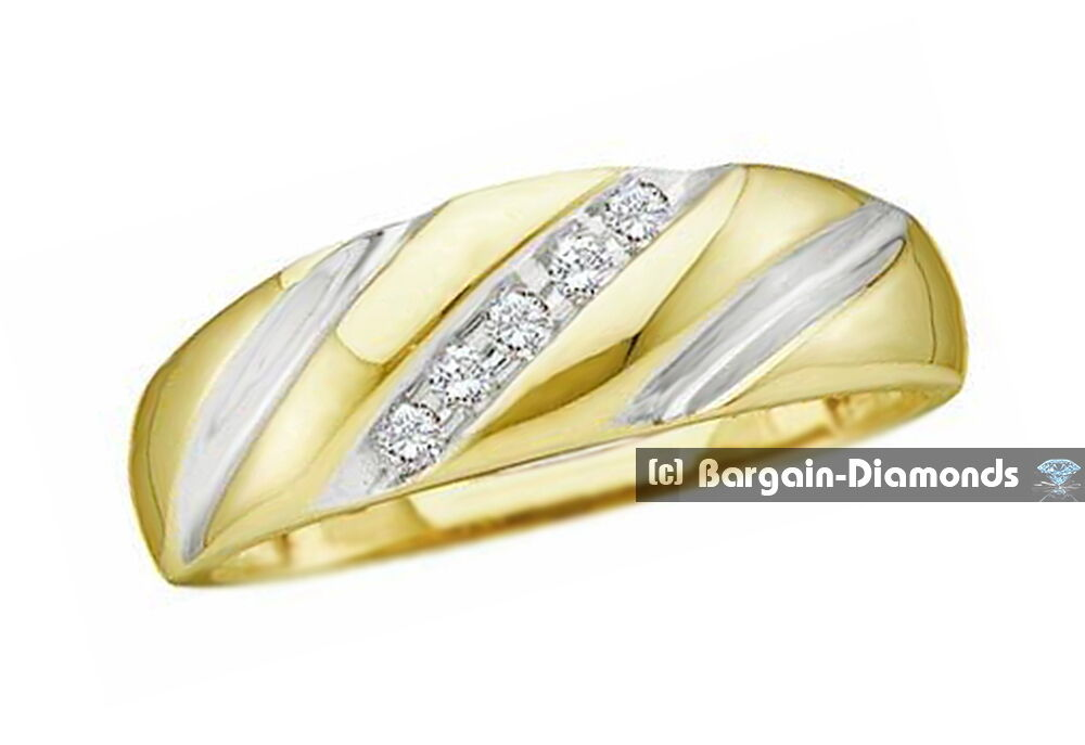 White And Yellow Gold Mens Wedding Rings Uk