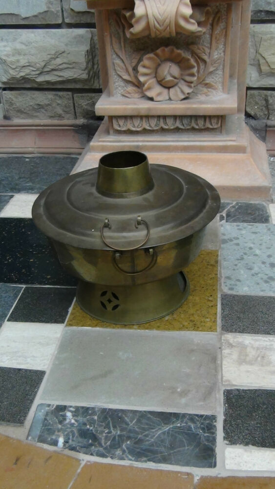 Cooking Warmers Vintage Fireplace ~ Antique c chinese bronze restaurant pot oven food warmer