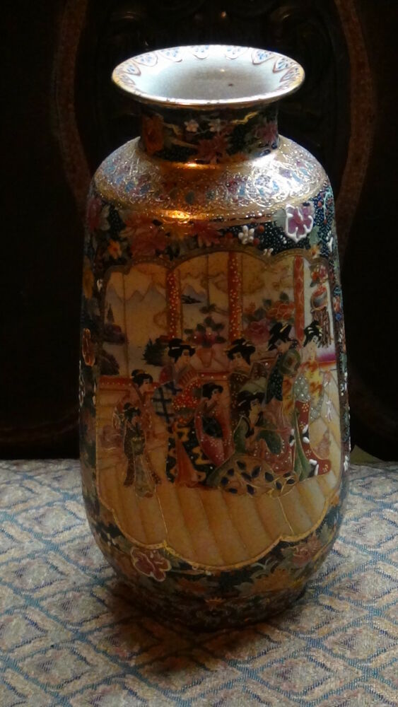 Antique 19c Chinese Porcelain Medalion Vase Signed At The