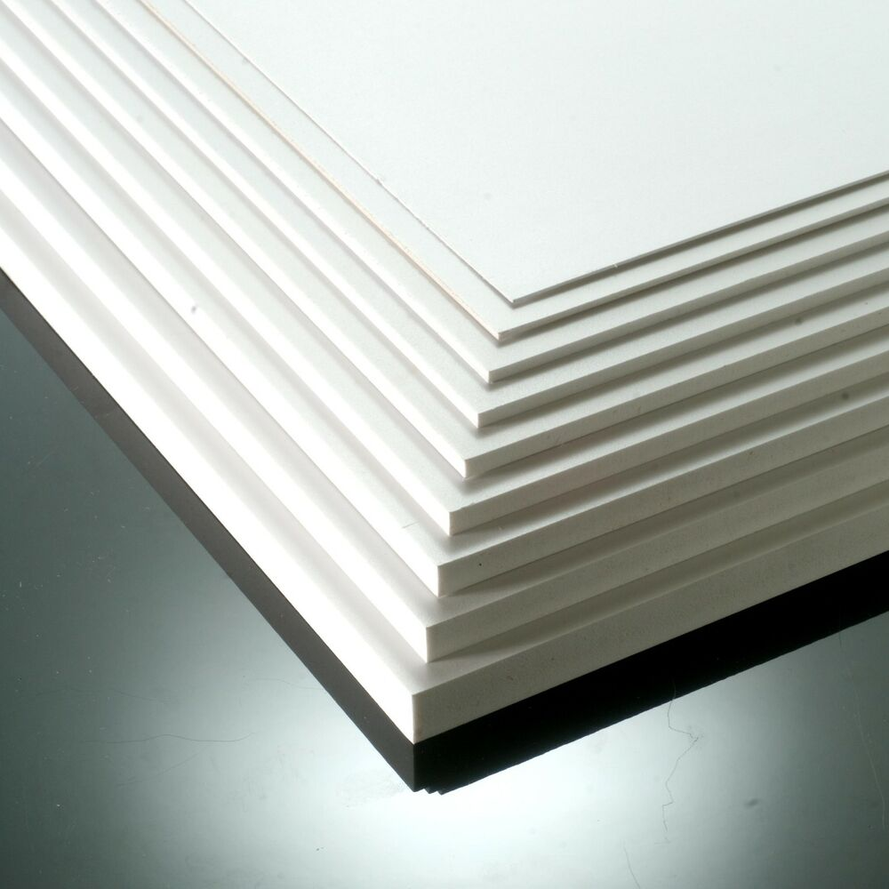 4mm Matt White Foam Pvc Sheet 8x4ft 10x5ft Foamex Foam Pvc