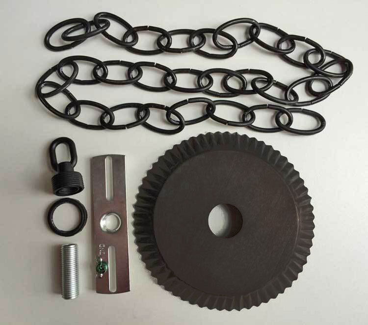 Ceiling Plate Canopy Kit W 3 Of Chain In Kettle Black