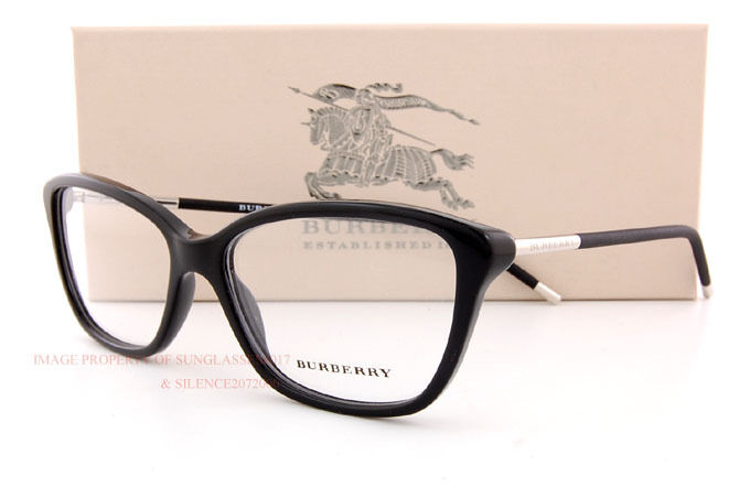 44e06ee4e2 Brand New BURBERRY Eyeglass Frames BE 2170 3001 Black For Women Size 54