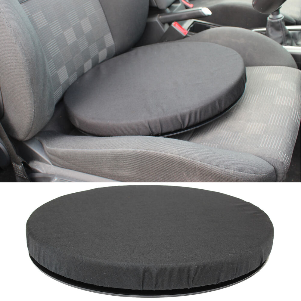 black memory foam rotating seat chair swivel cushion chair mobility aid car home ebay. Black Bedroom Furniture Sets. Home Design Ideas