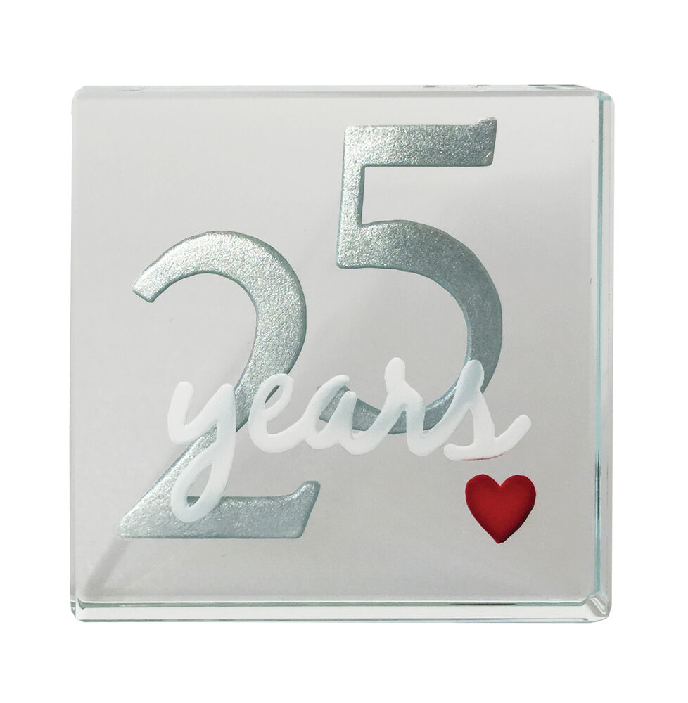 Spaceform 25th Silver Wedding Anniversary Gifts 25 Years
