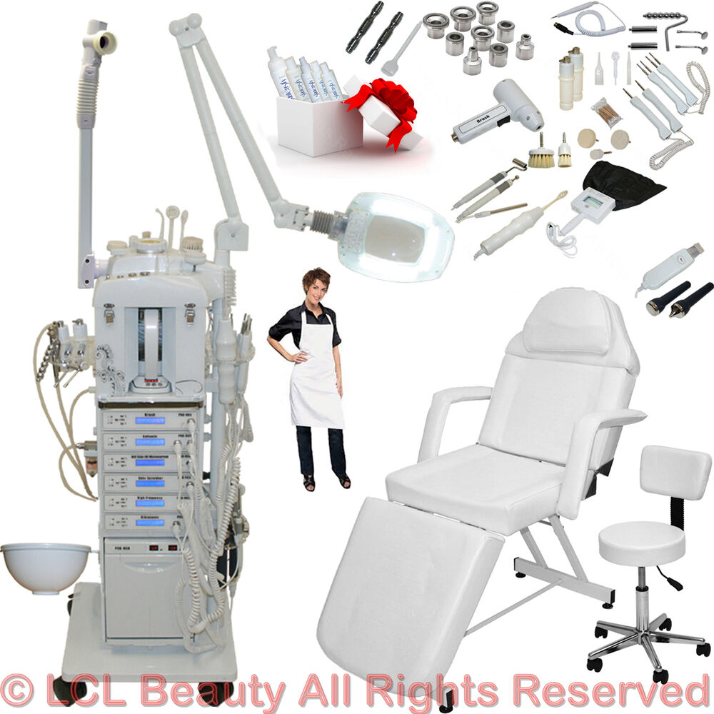 17 in 1 microdermabrasion facial machine adjustable bed for Salon spa equipment