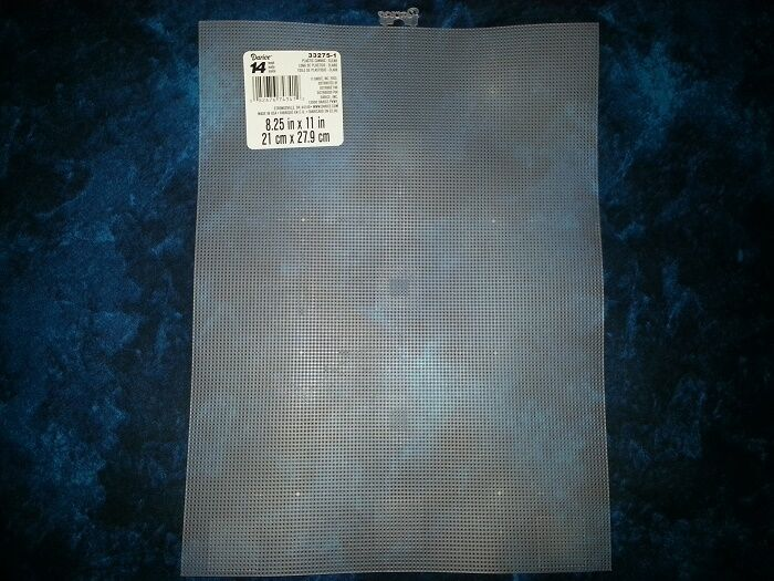 10 Pc Plastic Canvas Perforated Clear Sheet 14 Count