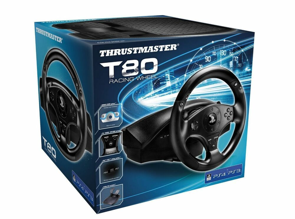 thrustmaster t80 officially licensed racing wheel for ps4. Black Bedroom Furniture Sets. Home Design Ideas