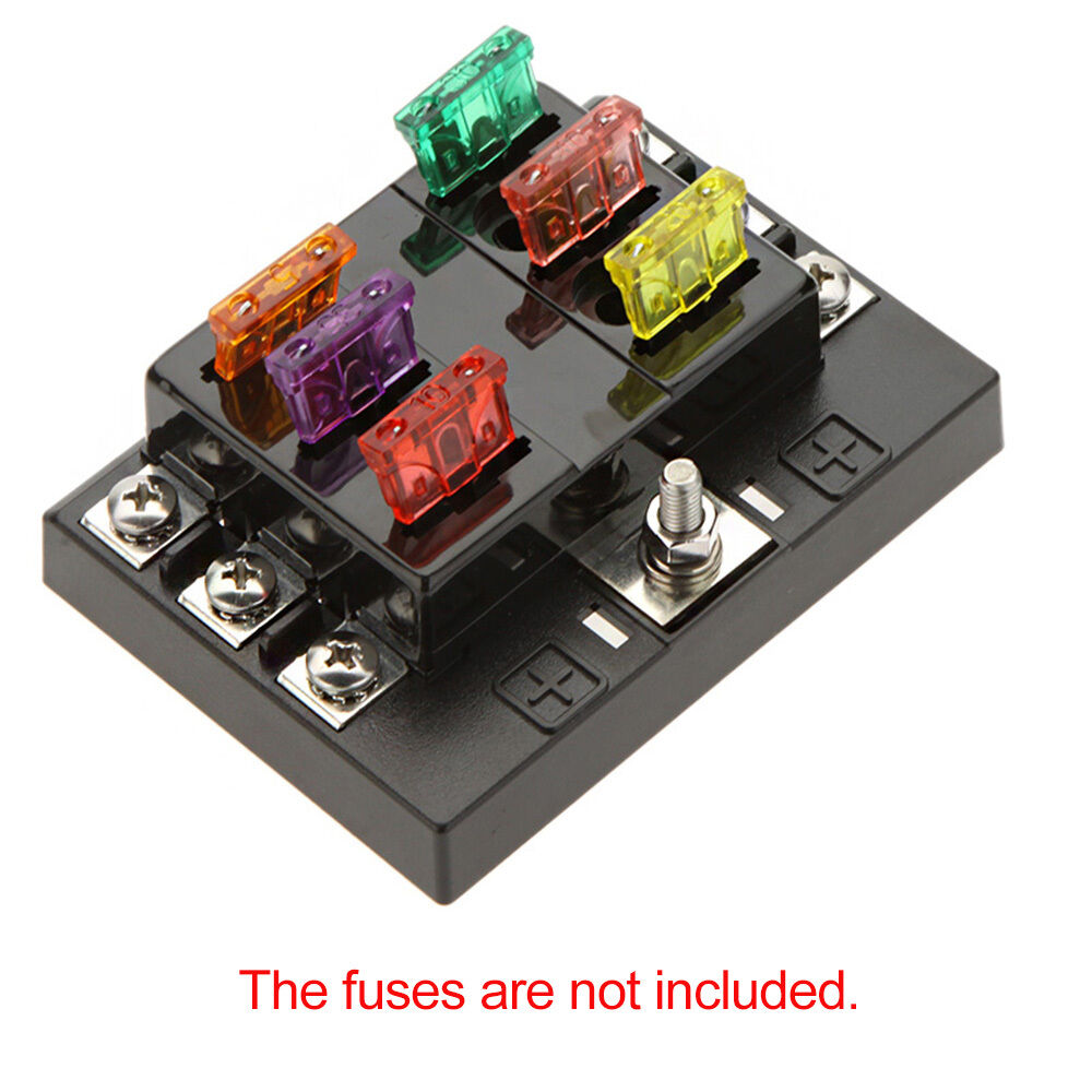 fuse box holder 6 way circuit 32v dc blade fuse box block holder for auto ... #11