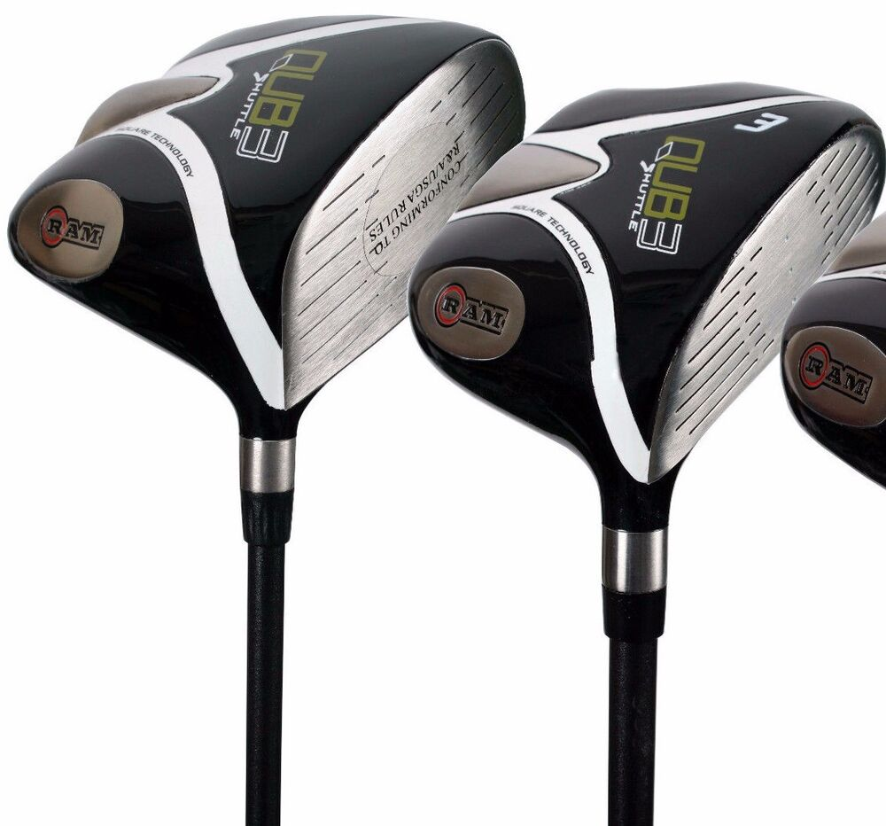 New Ram Tour Golf Qub3 Shuttle Driver And 3 Wood Graphite