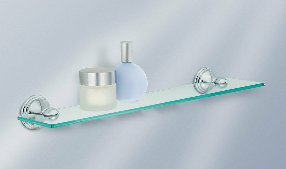 Bathroom Shelf Counter Shelves Luxury Look Bath Decor Glass Modern Accessories Ebay