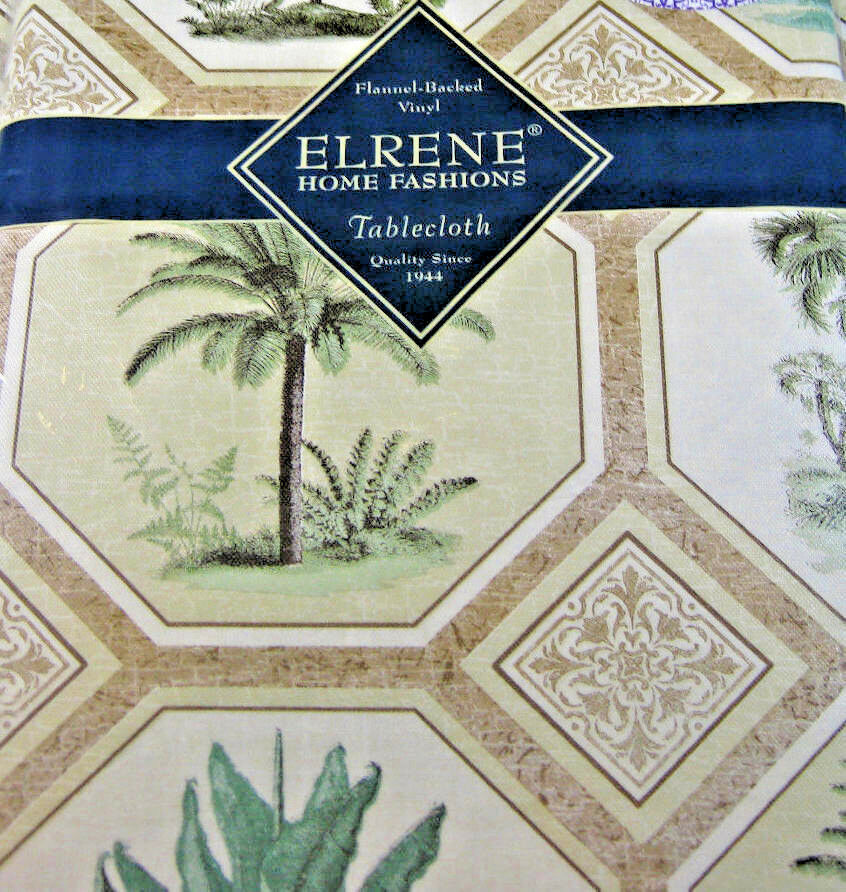 Flannel Backed Vinyl Tablecloths Quot Palm Trees Multi Color