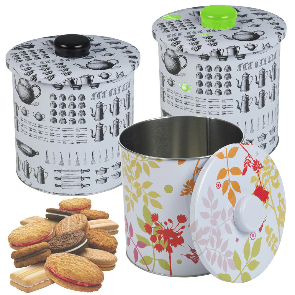 cupcake canisters for kitchen metal biscuit cookie cake cupcake candy tin airtight canister kitchen storage ebay 6875
