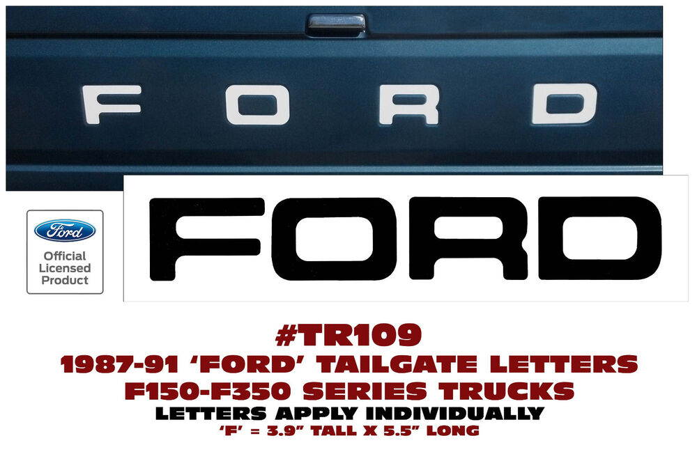 1995 Ford F250 Parts ... FORD TRUCK - STYLESIDE - TAILGATE LETTERS DECAL F150 F250 F350 | eBay