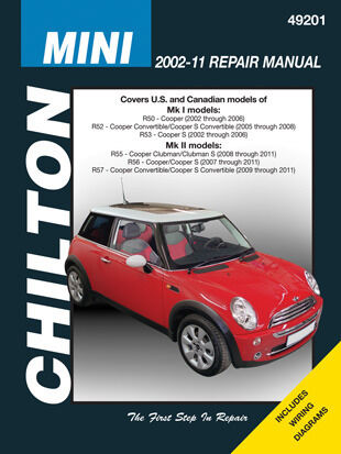chilton 49201 repair manual 2002 2011 mini cooper mk. Black Bedroom Furniture Sets. Home Design Ideas