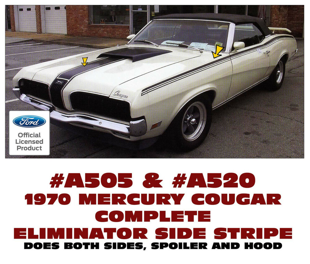A505 Amp A520 1970 Mercury Cougar Eliminator Complete Side