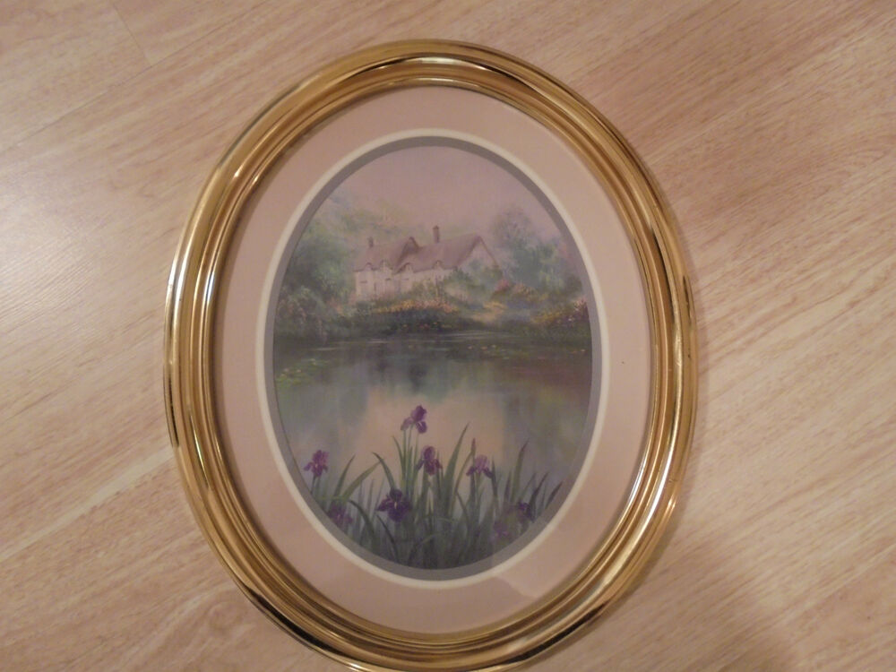Beautiful Home Interior Picture Oval Gold Resin Frame