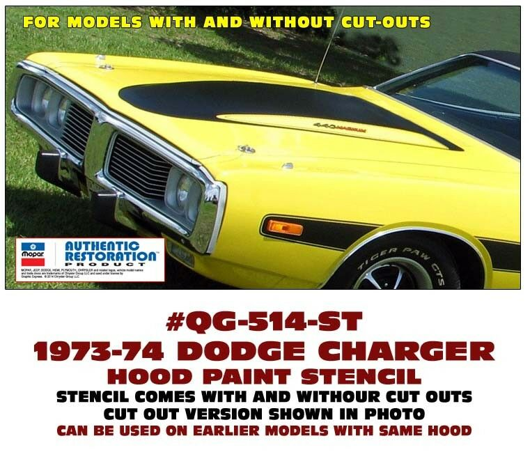 Graphic Express - 1971-72 Dodge Charger Ramcharger Hood