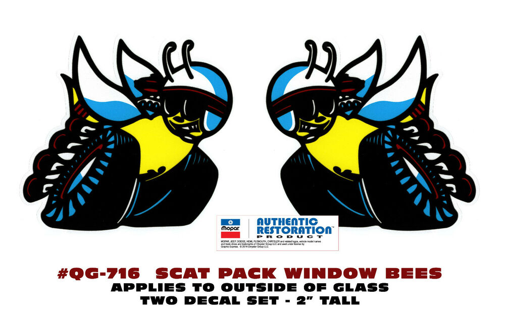 qg 716 1970 dodge scat pack bee decal set 2 tall. Black Bedroom Furniture Sets. Home Design Ideas
