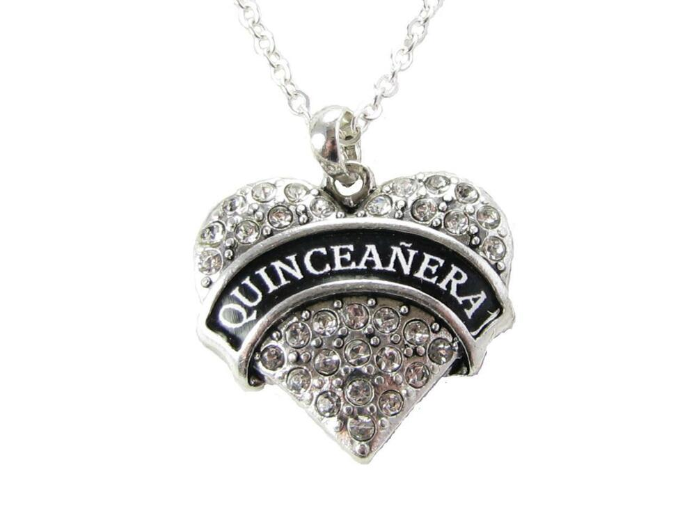 quinceanera silver chain necklace jewelry