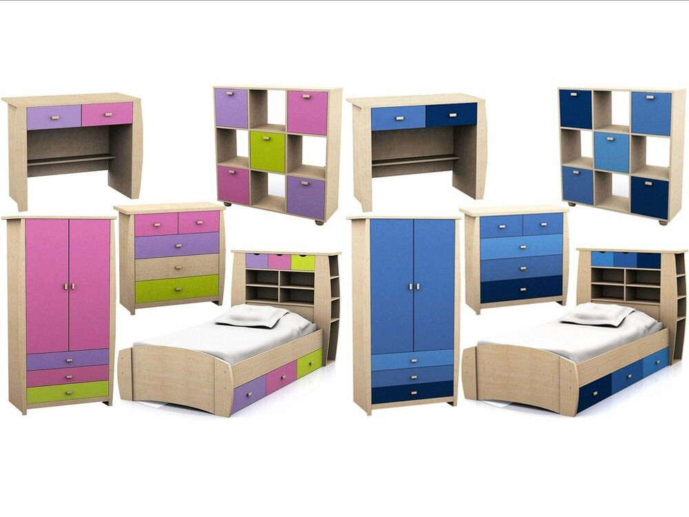 Sydney childrens bedroom range pink or blue storage for Furniture at the range