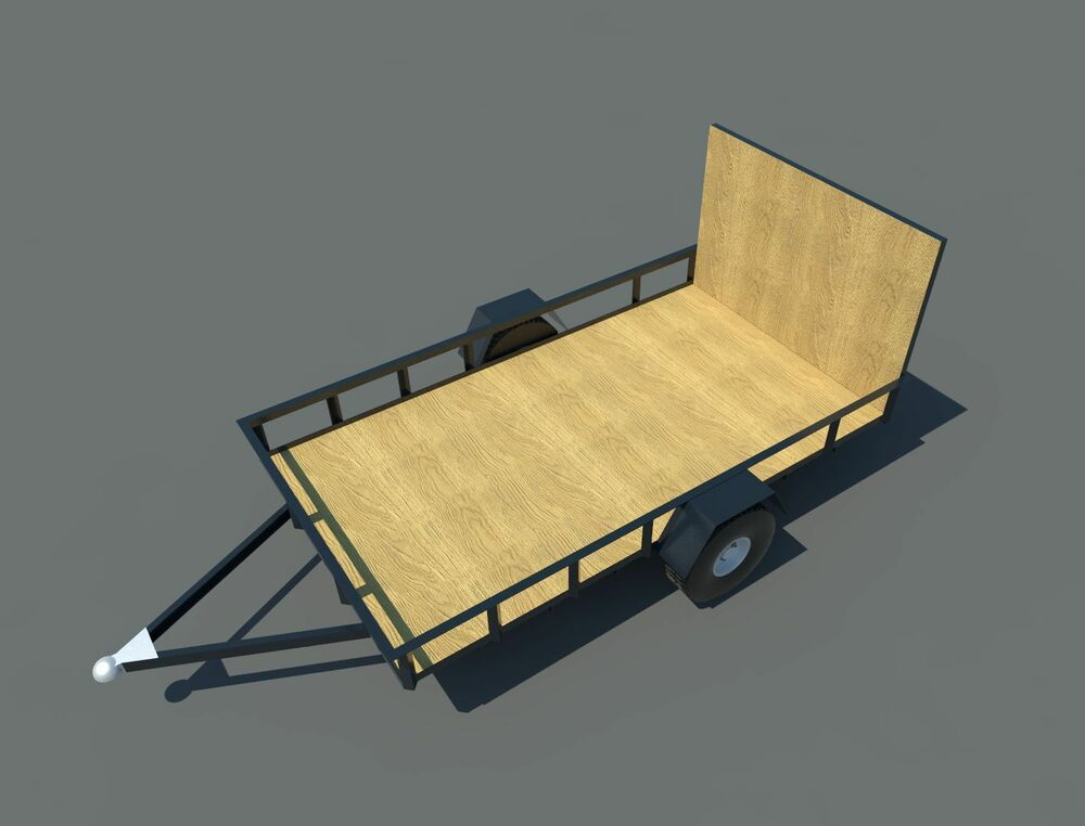 Build your own 6 39 x 10 39 utility trailer diy plans fun to for How to build a trailer plans free