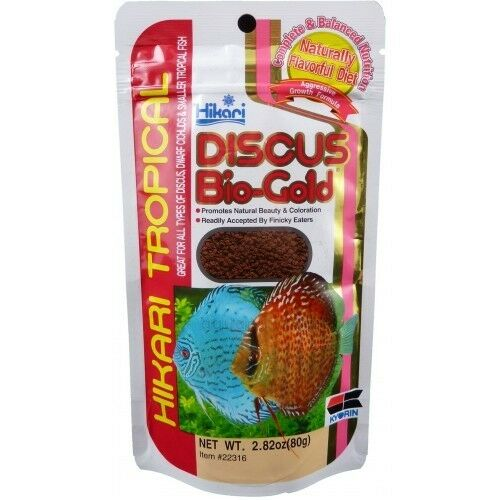 Hikari discus bio gold 80g fish food pellets granules ebay for Hikari fish food