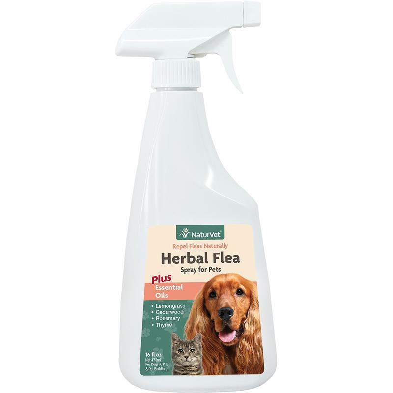 naturvet natural herbal flea spray repellent for dogs cats bedding 16oz 79903442 ebay. Black Bedroom Furniture Sets. Home Design Ideas