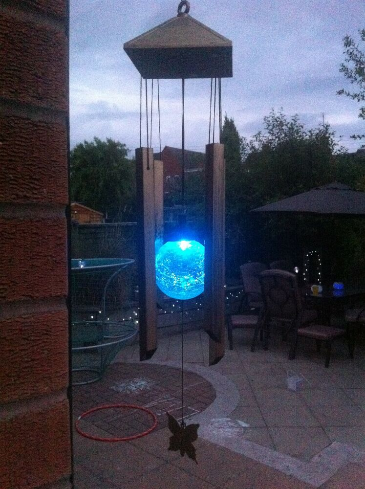 Solar powered windchime colour changing light for garden - Watch over the garden wall online free ...