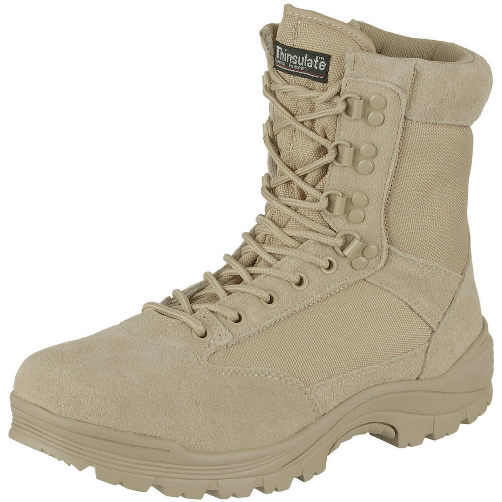Tactical Side Zip Security Police Combat Army Mens Boots