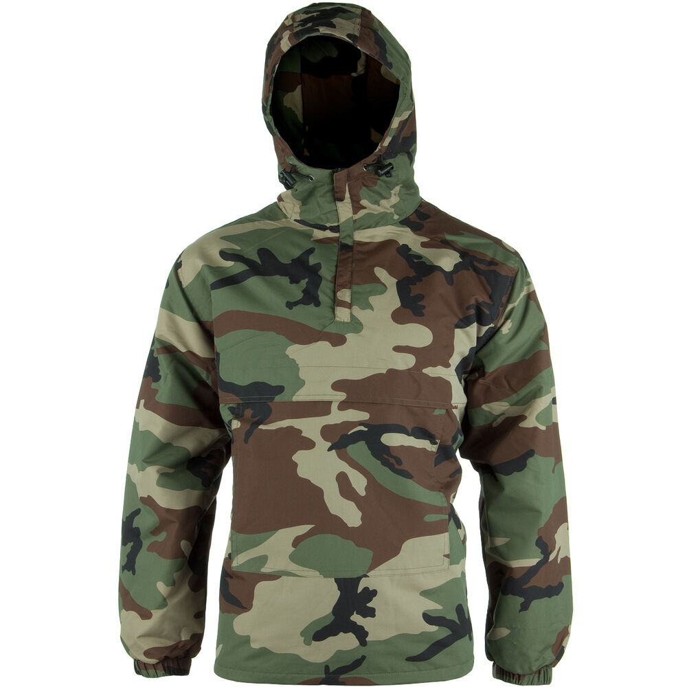 Military Combat Mens Anorak Hooded Windproof Jacket With