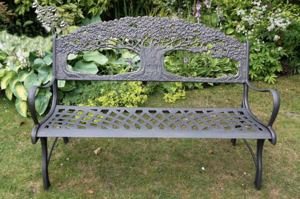 Solid Cast Iron Bench Garden Furniture Metal Bench Outdoor