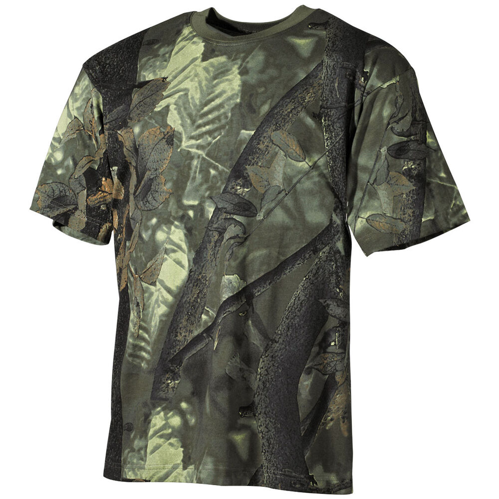 trapper camouflage top camo mens t shirt real tree green tee ebay. Black Bedroom Furniture Sets. Home Design Ideas