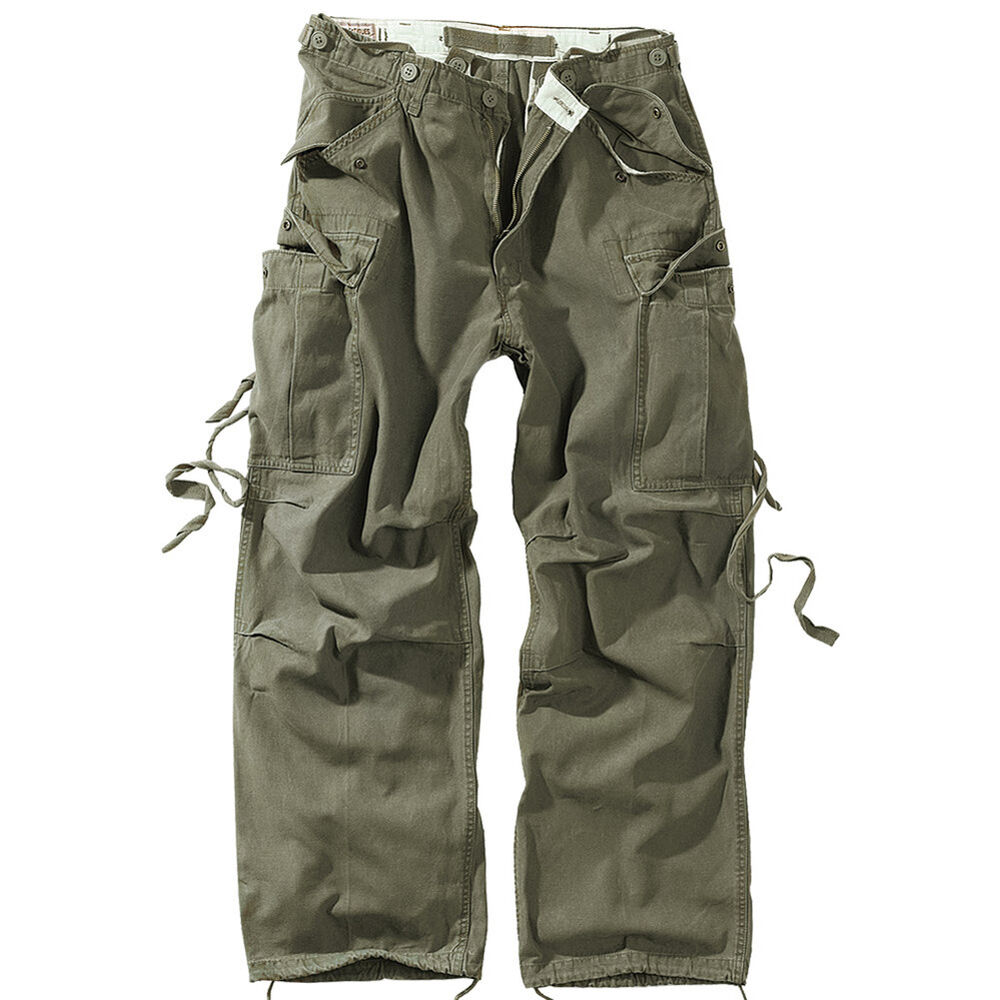 Vintage Mens Pants Cargo Trousers Surplus Work Casual ...
