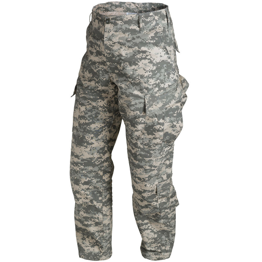 Helikon US ACU Ripstop Combat Army Mens Trousers Cargo ...