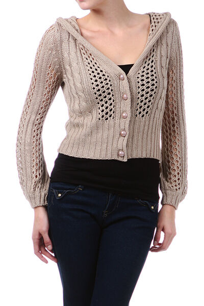 Free Crochet Pattern Cropped Sweater : Cute Cropped Crochet Sweater Crop Knit Button Down ...