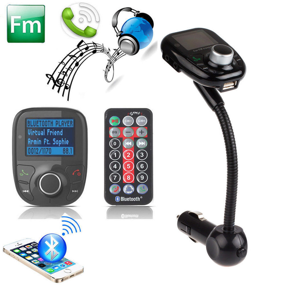 best lcd car kit mp3 bluetooth player fm transmitter. Black Bedroom Furniture Sets. Home Design Ideas