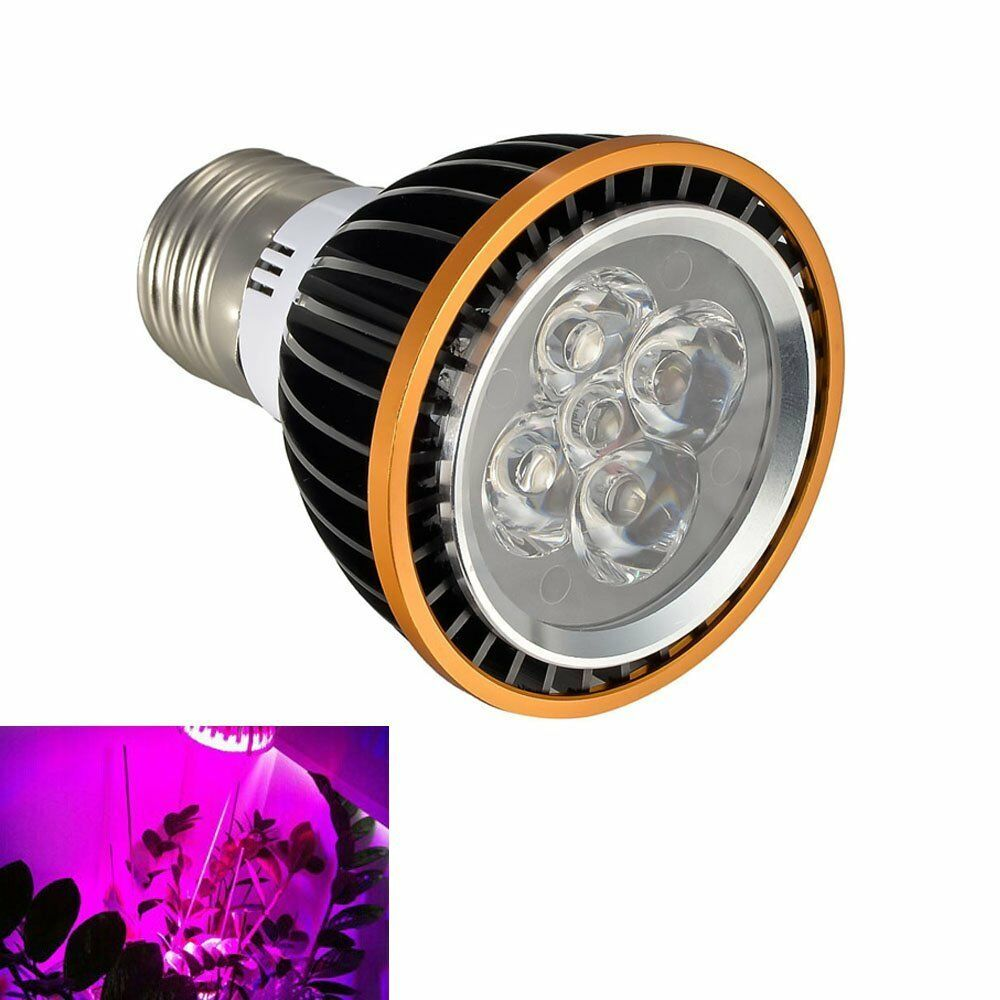5x3w led grow light bulb full spectrum 400nm 840nm indoor. Black Bedroom Furniture Sets. Home Design Ideas