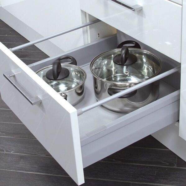Soft close drawer box kitchen bedroom cabinet drawers soft close integrated ebay for Bedroom furniture soft close drawers