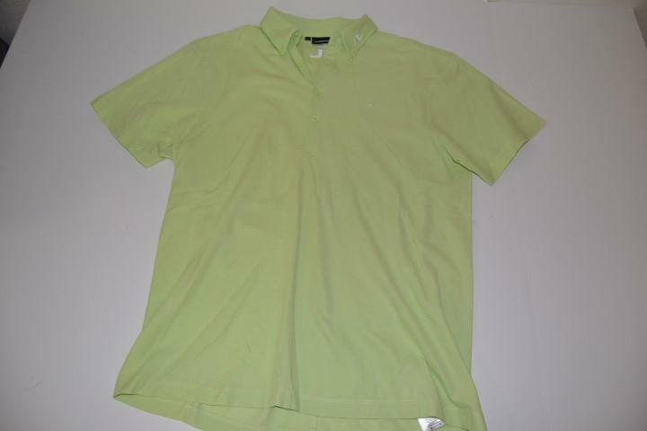 J lindeberg golf lime green dry fit polo shirt mens size for Mens lime green polo shirt