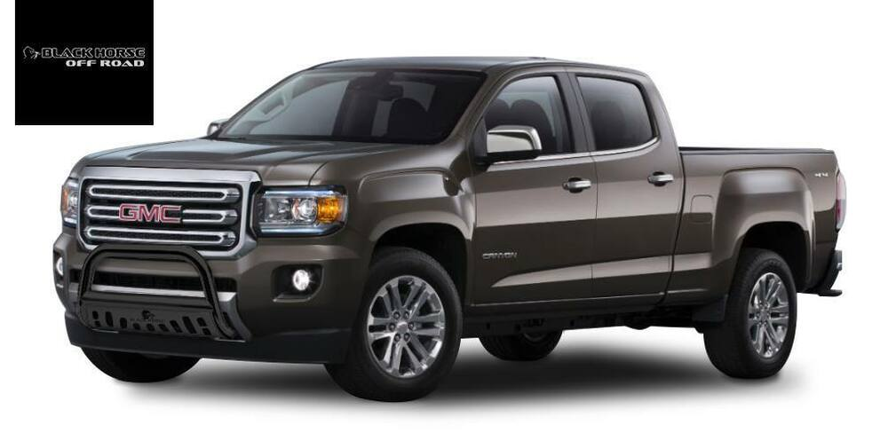 Black Horse Motors >> Bull Bar Black with Skid Plate For 2015-2018 GMC Canyon / Chevy Colorado | eBay
