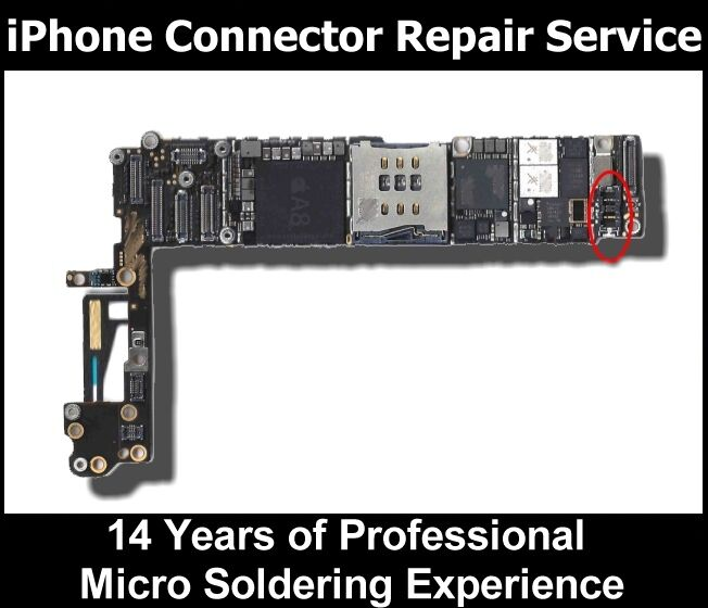 Iphone  Battery Connector Repair Service